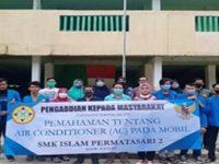 Sosialiasiasi Tentang Pemahaman Air Conditioner Pada Mobil Oleh Mahasiswa Teknik Mesin Unpam di SMK Islam Permatasari 2 Bogor