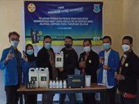 Prodi Teknik Industri Universitas Pamulang Adakan Pelatihan Teknik Pembuatan Semir Ban di Jelupang, Tangerang Selatan