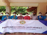 PKM Mahasiswa Unpam Berikan Penyuluhan Perawatan Sepeda Sepeda Motor Matic di Tenjo, Bogor