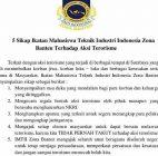 Pernyataan Sikap IMTII Zona Banten Atas Maraknya Aksi Terorisme
