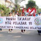 Ribuan Pelajar Ikut Pawai Ta'aruf MTQ Pelajar VI Tingkat Kota Tangsel
