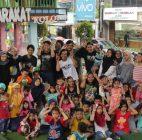Puluhan Anak di TBM Kolong Ciputat Ikuti Sosialisasi Pencegahan Kekerasan Pada Anak