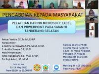 Dosen Unpam Berikan Pelatihan Daring Microsoft Excel dan Powerpoint di SMAN 10 Tangerang Selatan